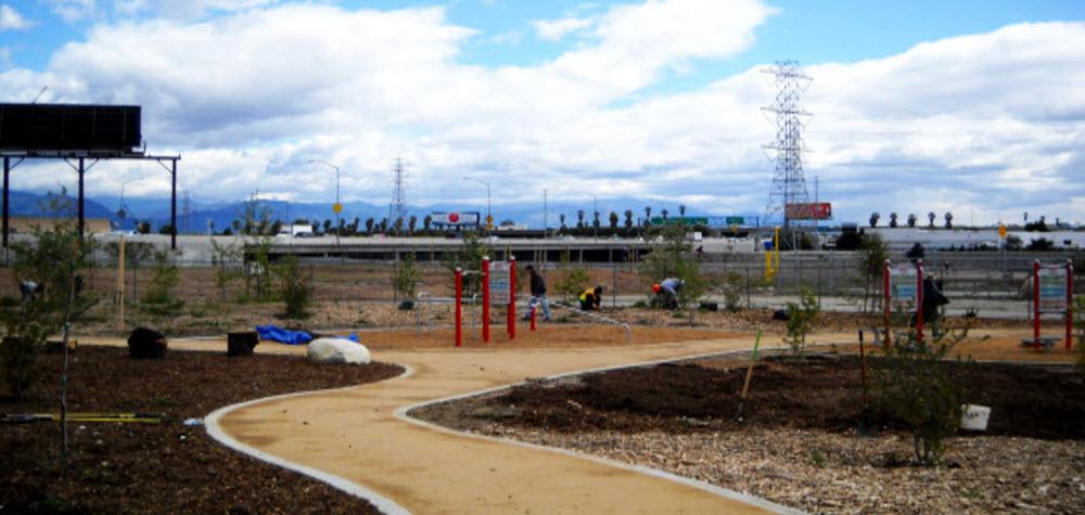 Madrid Middle School Park in El Monte walking path