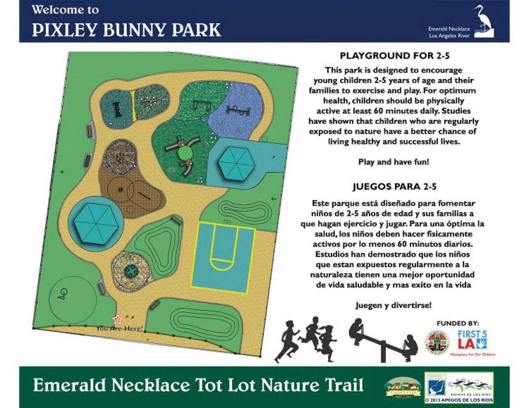 Pixley Bunny Park Map
