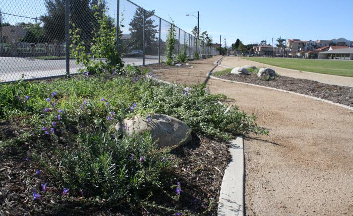 New trails at Columbia School Park