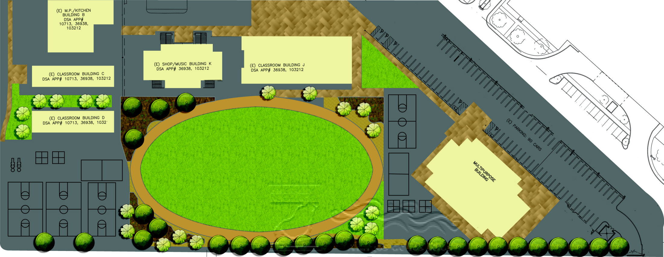 Columbia School Green Way Concept Design