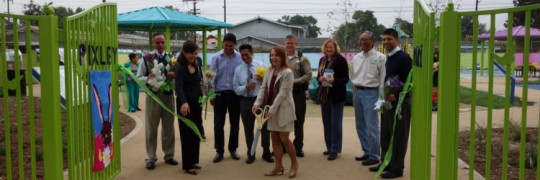 Karen Roberson-Fall at Ribbon Cutting Ceremony at Pixley Park in Maywood